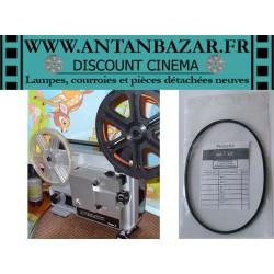 Kit 3 Courroies Apematic Super 8 - 1 Courroie moteur et 1 Courroie bobine et 1 Courroie ventilateur pour Apematic Super 8