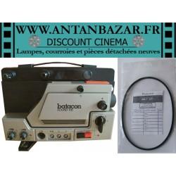 Kit 2 Courroies Batacon sound 100 - 1 Courroie moteur et 1 Courroie bobine pour Batacon sound 100