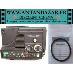 Kit 2 Courroies Chinon 9000 - 1 Courroie moteur et 1 Courroie ressort de bras pour Chinon Sound 9000
