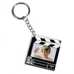 Porte-clés photo Clap cinéma 2.0x3.0 cm