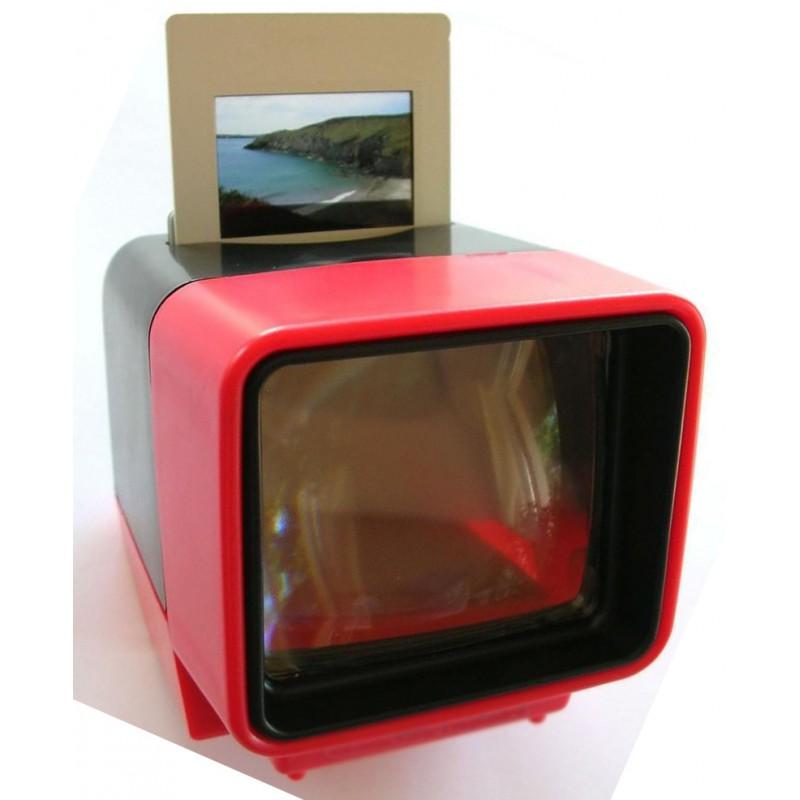 visionneuse de diapositives 24x36 piles avec clairage et grossissement de 3x. Black Bedroom Furniture Sets. Home Design Ideas