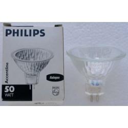 Lampe Philips GU5,3 50w Miroir Dichroique pro 12v 50w 2200 deg. K - 36 deg.