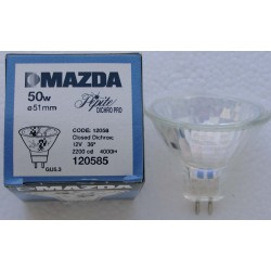 Lampe MAZDA GU5,3 50w Miroir Dichroique pro 12v 50w 2200 deg. K - 36 deg.