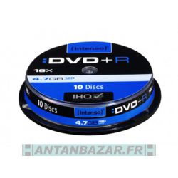 Pack de 10 DVD+R 4.7 GB 16x Speed Intenso