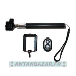 Monopode Perche SELFIE MAKER pour portable et camera numerique - noir