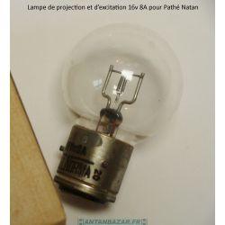Lampe excitatrice Pathe Natan 16V 8A- Ampoule excitatrice Pathe Natan 16V 8A