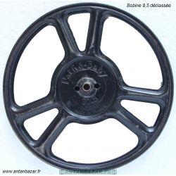 Bobine 9,5mm 100m - Ø 17cm d occasion avec traces d usage- Bobine declassee -Vide en metal