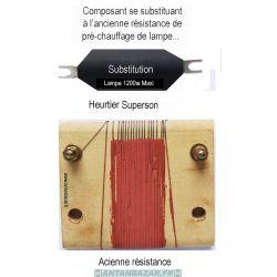 Composant de substitution de resistance de prechauffage de lampe Heurtier Superson