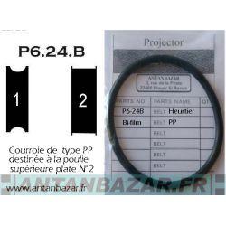 Courroie moteur Heurtier P624B Bifilm - 2eme Fabrication avec poulie plate