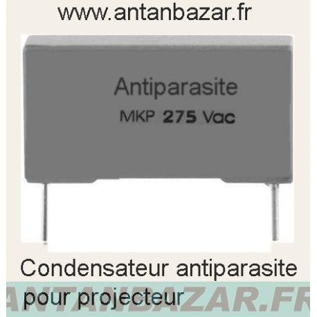 Condensateur antiparasite pour projecteurs