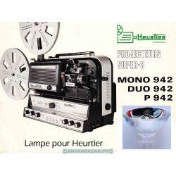 Lampe Heurtier mono 942 ou Duo 842 ou P 942 - Ampoule Heurtier mono 942 ou Duo 842 ou P 942