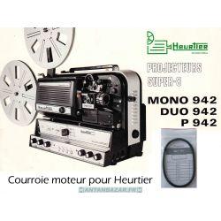 Courroie Heurtier Mono 942 ou Duo 942 ou P 942 courroie moteur