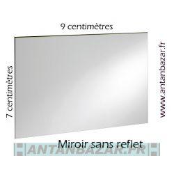 Miroir sans reflet pour retourner une image projetee