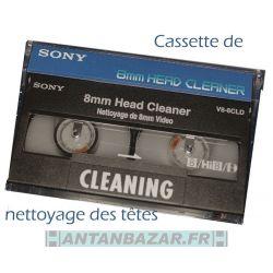 Cassette 8mm nettoyage des tetes