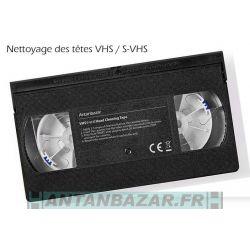 Cassette VHS/S-VHS nettoyage des tetes