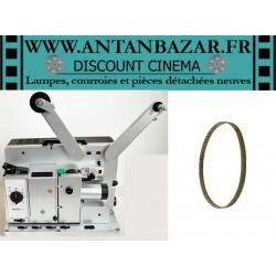 Courroie Bauer P7 - Courroie courte de rembobinage crantee, situee a l'interieur du projecteur, pour Bauer P7